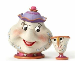 Jim-Shore-Disney-Mrs-Potts-and-Chip-Beauty-and-the-Beast-Figurine-4049622-New