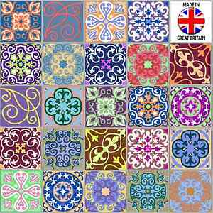 Various 24 Pack Moroccan Tile Sticker Decal Kitchen