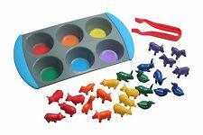 Color Sorting Set - Sorting Tray & Farm Animal Manipulatives, tweezers OT Dice