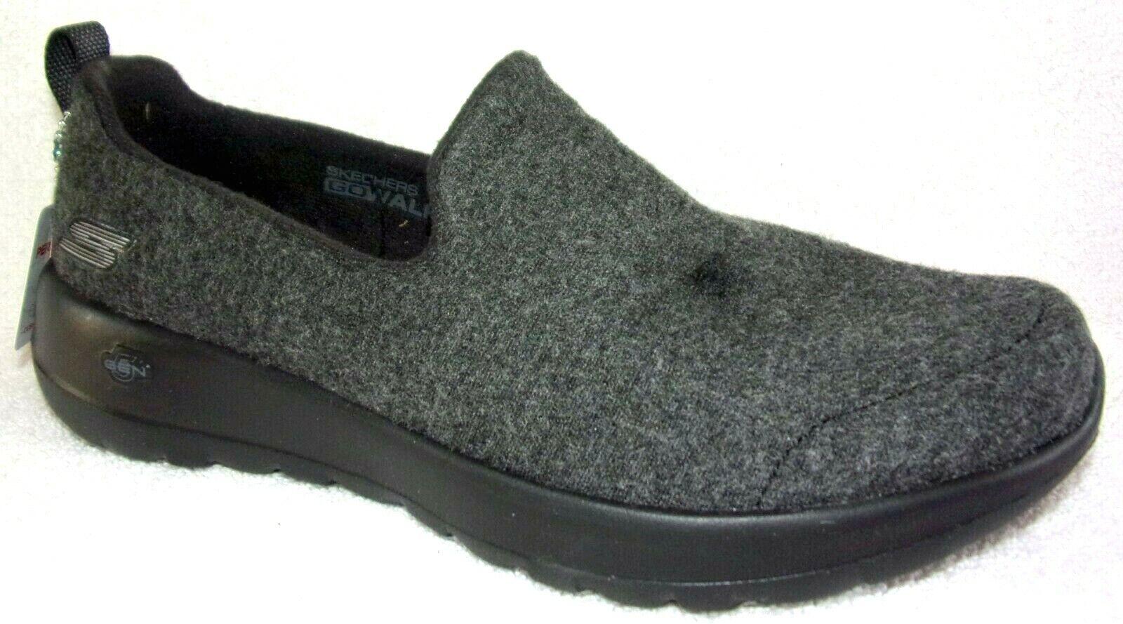 New Skechers GO Walk Joy Felt Shoes Surreal Black 6.5 M