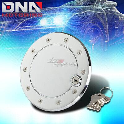 SILVER LIGHT GAS FUEL TANK DOOR COVER CAP+LOCK+KEY 91-98 K-SERIES PICKUP//TRUCK
