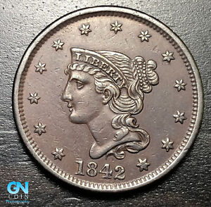 1842-Braided-Hair-Large-Cent-MAKE-US-AN-OFFER-B5999
