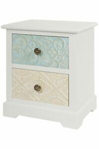 Nachttisch Schmal Weiß.Details Zu Kommode Nachttisch 2 Schubladen Weiß Shabby Chic Antik Landhaus Holz Schmal 50cm