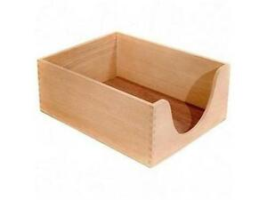 """Carver Hedberg Letter Size Double Deep Desk Tray x 5"""" Depth - 1 Tier(s) - Wood -"""