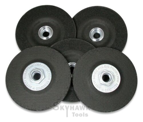 "4-1//2/"" X 5//8/"" Metal Grinding Wheel with HUB 1//4/"" Thick New Lot of 5"