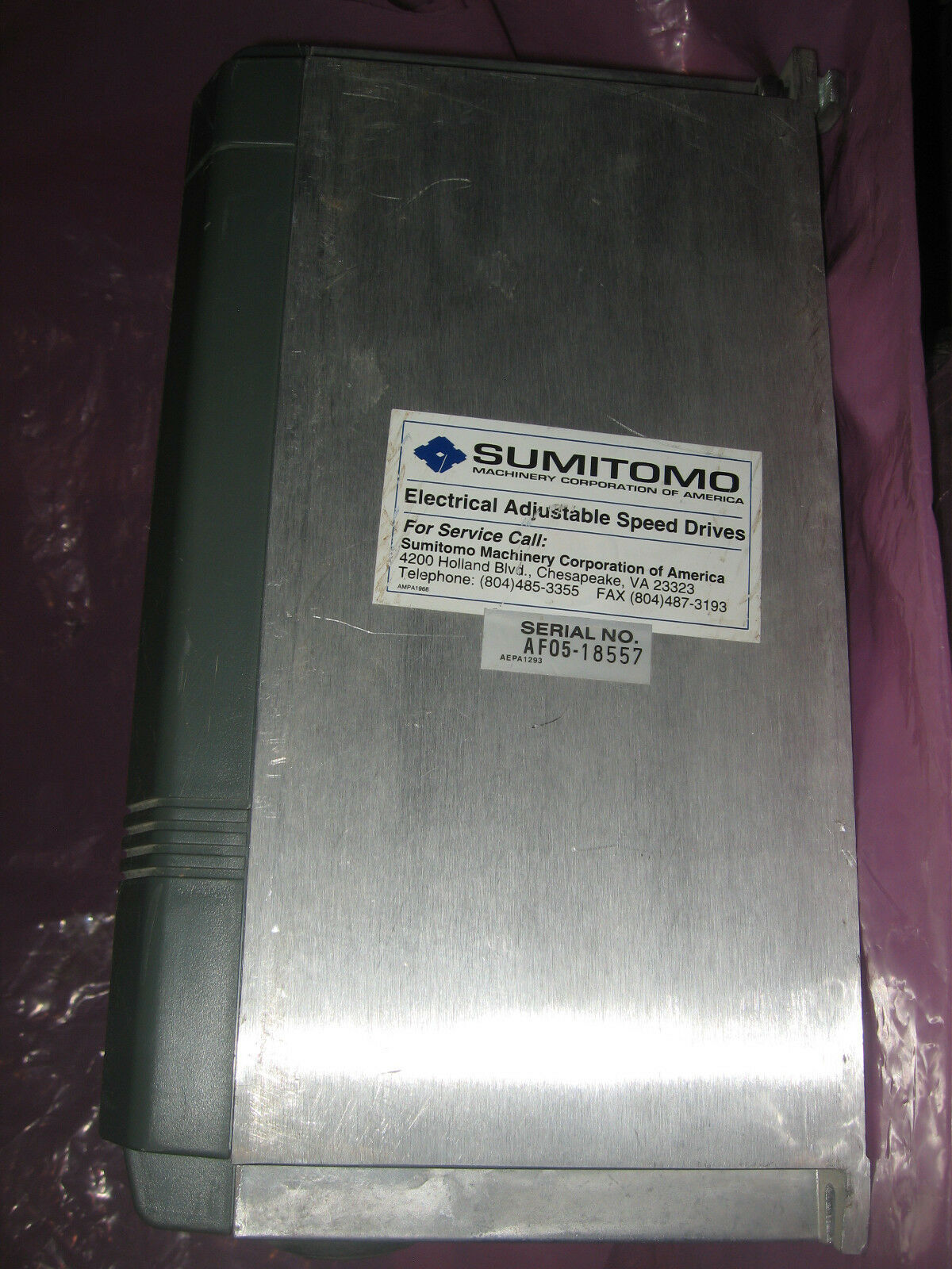 Sumitomo AF500 AF502-1A5 SMAC PAC AC Motor Speed Control variable freq inverter