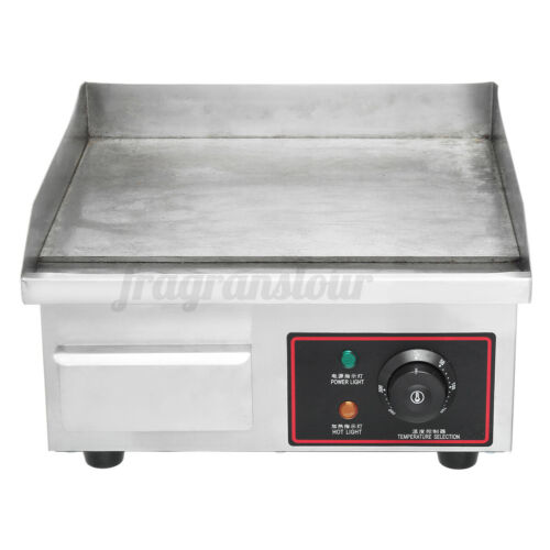 """110V 1500W Electric Griddle Flat Top Grill 14/"""" Hot Plate BBQ Countertop Home USA"""