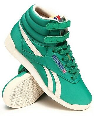 REEBOK V55107 FREESTYLE HI Women's High Top Green Fashion Retro Sneakers Shoes