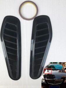2x-Auto-Car-Decorative-Air-Flow-Intake-Scoop-Turbo-Bonnet-Vent-Cover-Hood-Fender