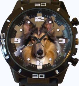 collie-closup-NUEVO-SERIE-GT-deportivo-unisex-regalo-reloj-de-pulsera