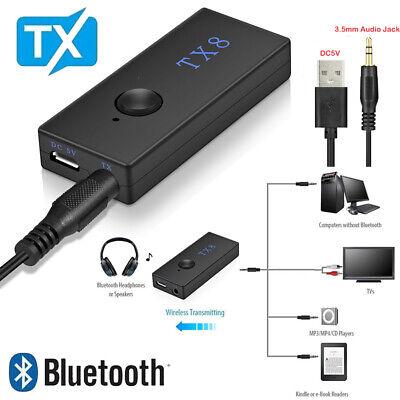 Bluetooth Transmitter Receiver Adapter Tx8 3.5mm Wireless Audio Adapter Tv