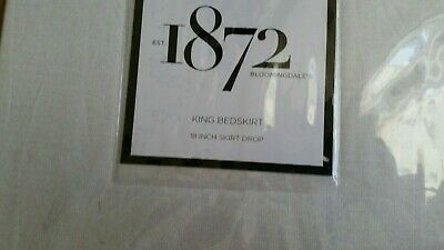 1872 Bloomingdale's Meridian King Bedskirt 18 Inch Drop 300 Thread Count Cotton
