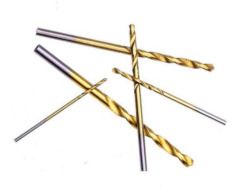 latón.. acero Hierro Ideal modelismo. 5 Brocas Titanio HSS de 1 a 3 mm inox