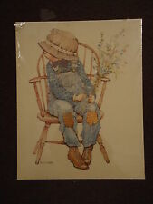 Holly Hobbie Brother or Boyfriend Robbie Boy Cardboard Poster Print Vintage Doll