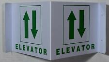 Elevator 2d Projection Signelevator Hallwaywhitegreenplastic7x9