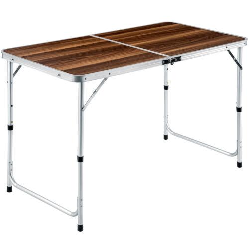 Mesa caja con set de 4 taburete plegable mesa camping mesa asiento Grupo aluminio