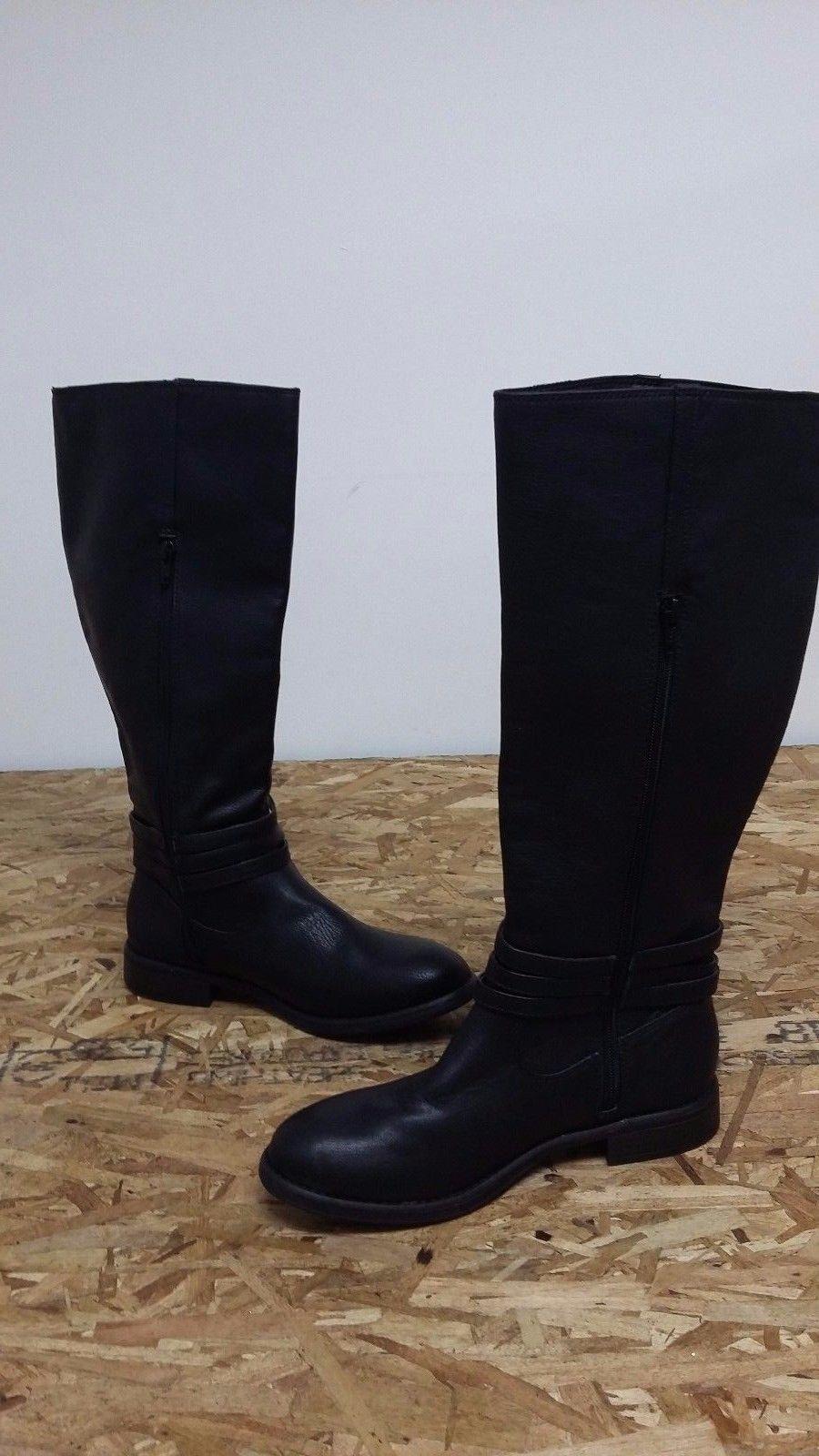 New Womens Lauren Conrad Hunter Fashion Knee High Boots Style 163415 Black 108T