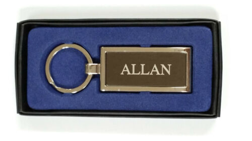 Personalised Silver Metal Men Keyring Named From A---B
