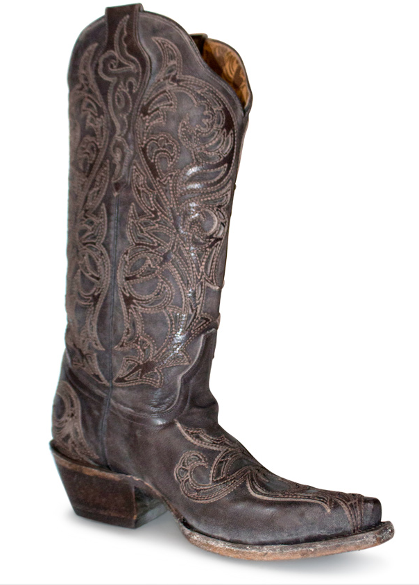 CORRAL Corral Tobacco Overlay Women's Western Boots G1459 Wides Available