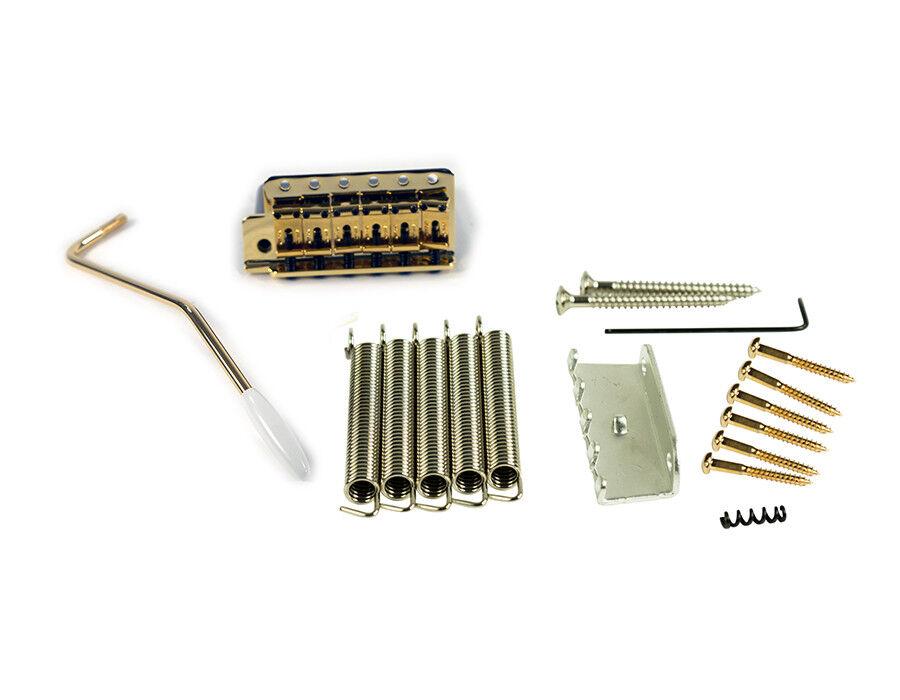 Kluson Gold Left Hand Tremolo fits Fender Vintage Strat Strat Strat USA 11.3mm Spacing 55fa70