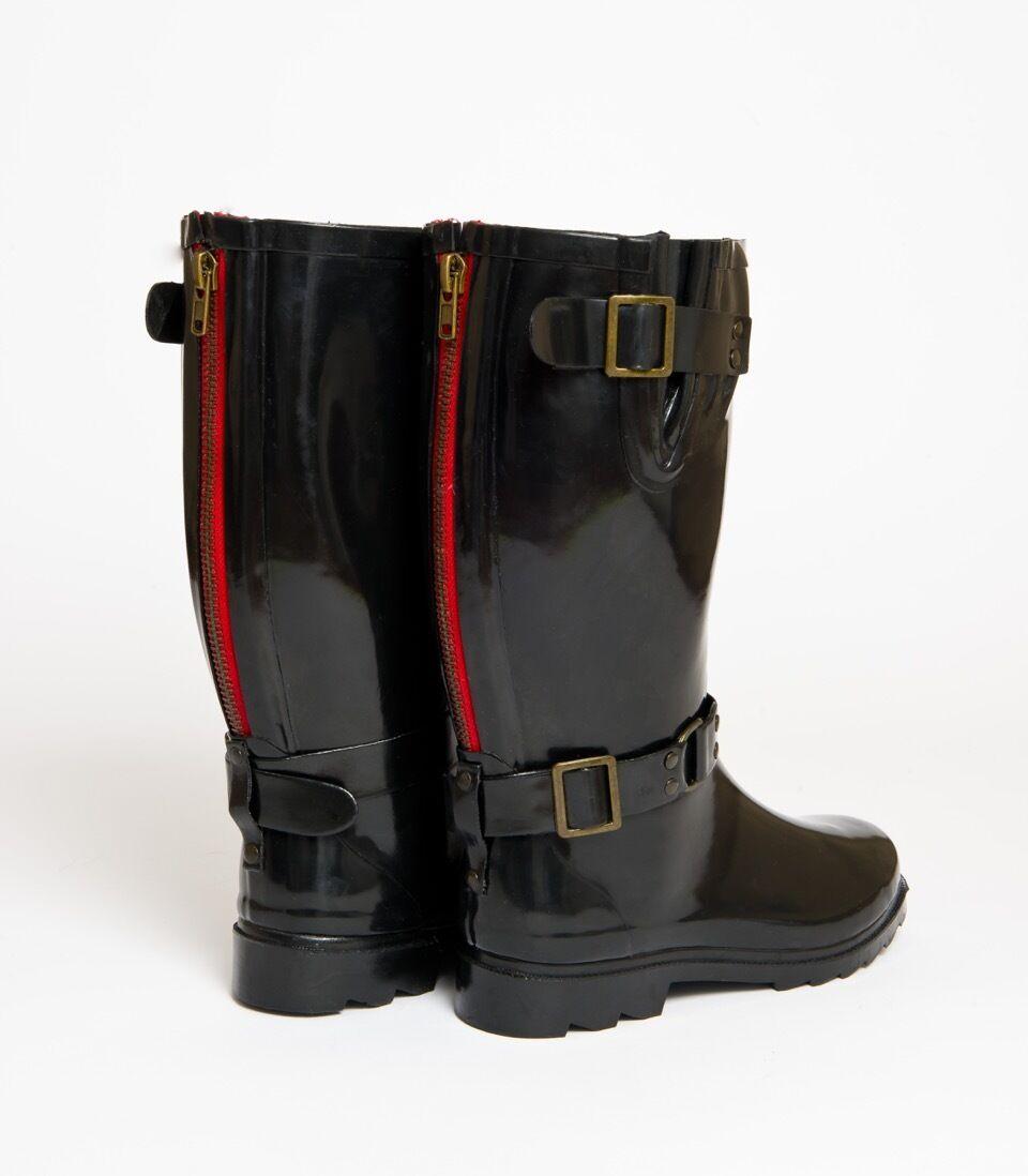 in vendita Müd Designer Stivali Wellington-Nero avvio Shine con zip rosso inattiva inattiva inattiva indietro  fino al 65% di sconto