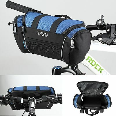 Bike Front Pannier Cycling Basket Handlebar Bar Bag Bicycle Quick Release Pouch
