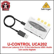 INTERFACCIA USB / AUDIO BEHRINGER UCA 202 U-CONTROL PER TABLET / MAC / PC