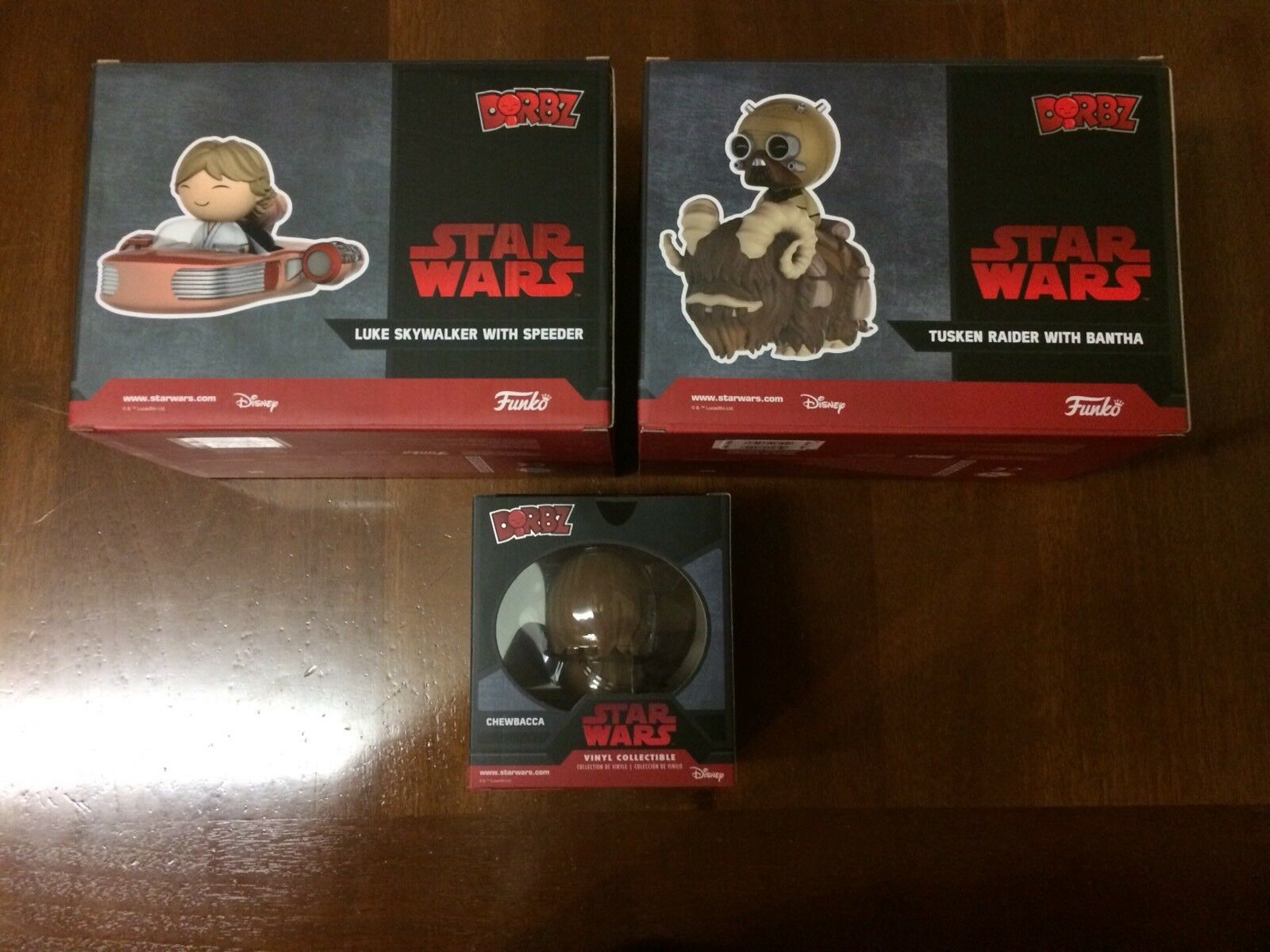 Funko Dorbz Star Wars 2 Special Edition + Flocked Chase Chase Chase Chewbacca New E MINT 2ed904