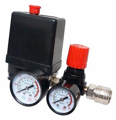 """Neu Druckregler mit Druckschalter für Kompressor Kompressorschalte 1//4/"""" 8,5 bar"""