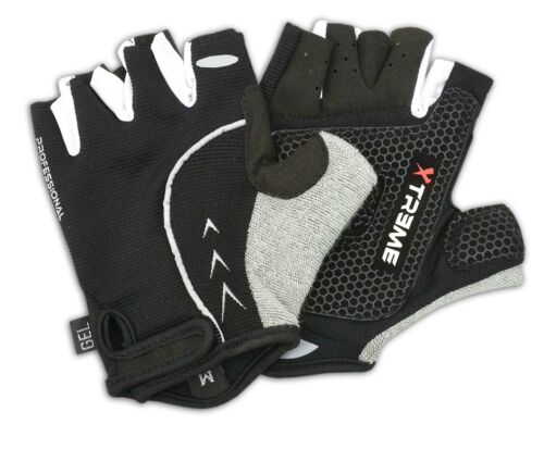 BICYCLE CYCLE GLOVES SILICONE GEL PALM SPORTS CYCLING XTREME FITNESS HALF FINGER