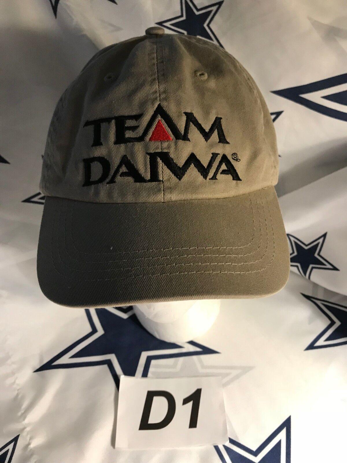 a60b0a83723 ... denmark vintage vtg team daiwa tan hat adjustable fishing baseball cap  90 adjustable hat strap usad1