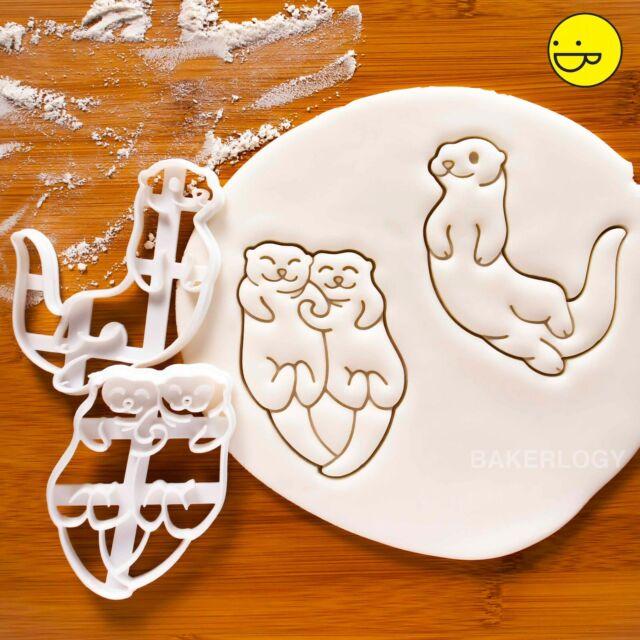 Süß Santa Hut Winter Festliche Tiere Weihnachten See Otter Keksausstecher