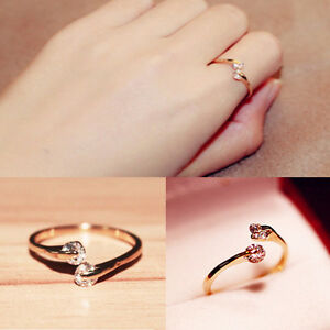 Fashion-Women-18k-Gold-Plated-Crystal-Rhinestone-Finger-Ring-Engagement-Jewelry