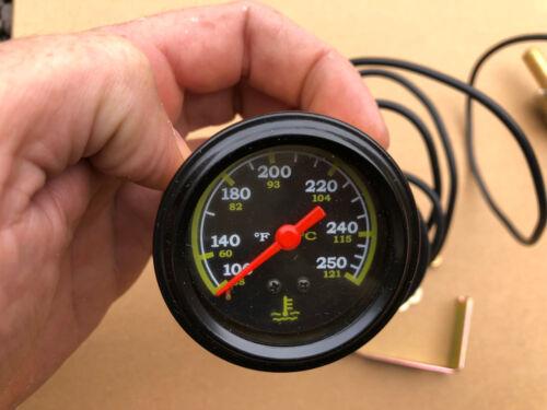 100-250F Termómetro Medidor de Temperatura Tubo Capilar Sensor Remoto 38-121C