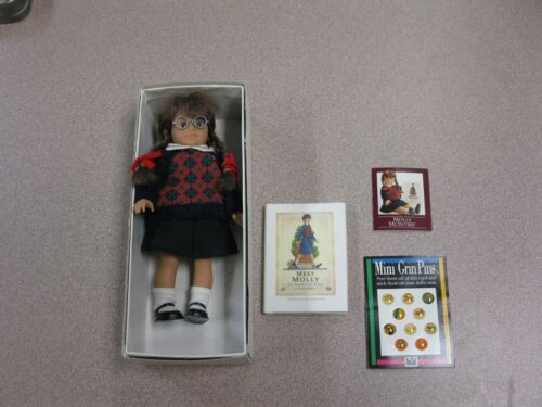 AMERICAN GIRL DOLL MINI MOLLY W Braids, Outfit & GLASSES