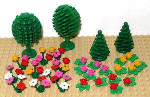 Lego-Multi-Coloured-Flowers-Plants-Trees-Flowers-Bundle-32-Pieces
