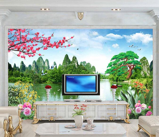 Papel Pintado Mural De Vellón Hermosa Naturaleza 3 Paisaje Fondo De Pansize ES