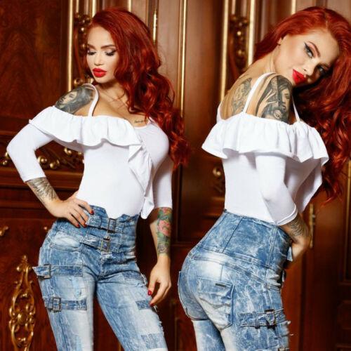 FOGGI Damenbluse Bluse Tunika T-Shirt Longshirt Oberteil  34-38 #F615