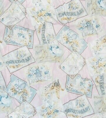 "PASTEL PINK polka dot COTTON fabric Quilt /& Sew DOLLS 44/""W by the 1//2 YARD"