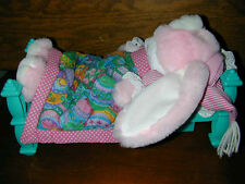 TOY: Sleeping Rabbit In Bed Snores Talking Adorable Wakes Up Fun Gag Centerpiece