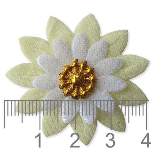 10pcs FLOWER Floral Embellishments Scrapbooking Cardmaking Craft Decoration DIY