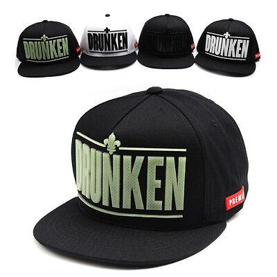 Unisex Mens Womens Premier Check Drunken Baseball Cap Snapback Hats Blue