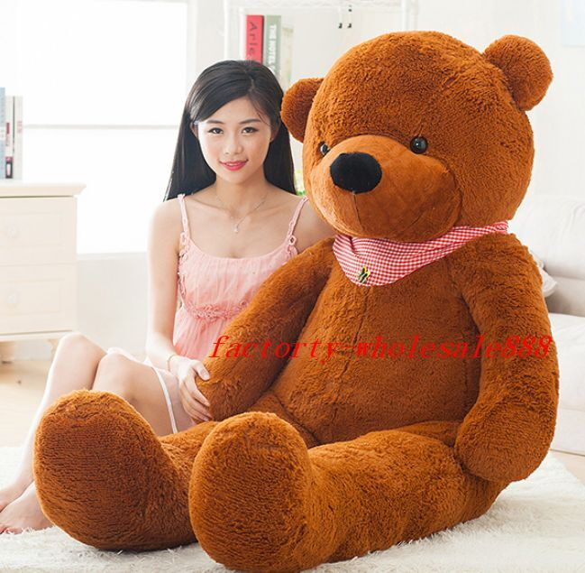 Latest 72  Giant Huge marrone Sleepy Teddy Bear Stuffed Animal Plush Soft Doll Toy