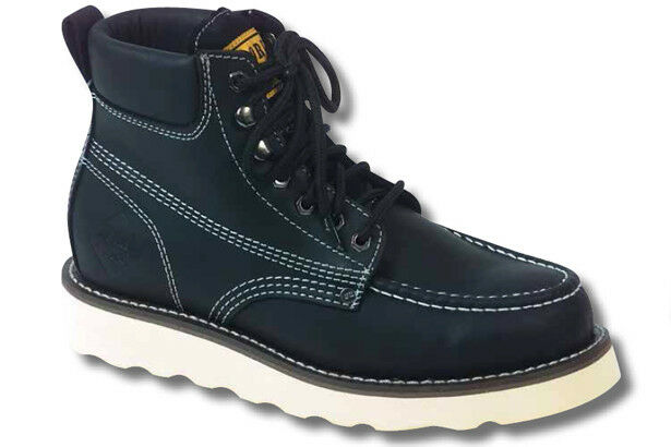 Work Zone Men's Moc Toe Classic Soft Toe Boot N633 Workzone (Black)