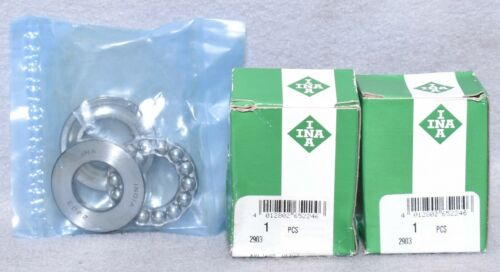 2 Count INA 2903 Bearings