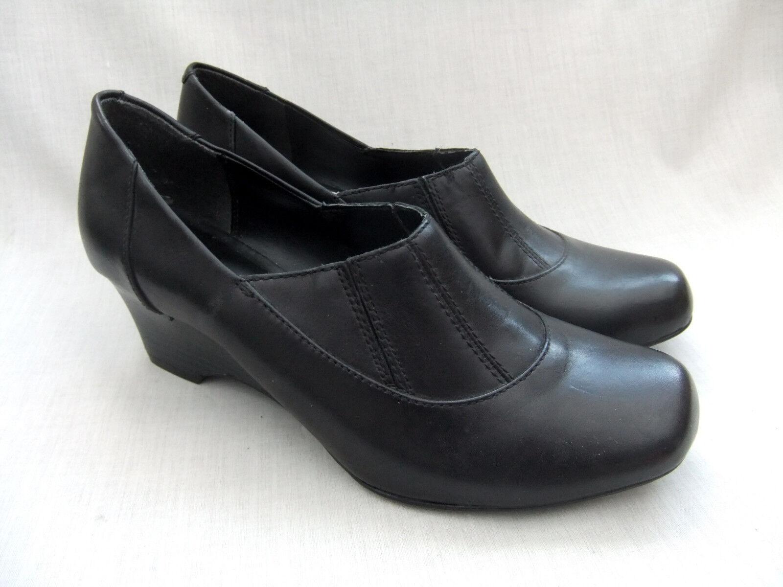 New Clarks Oreilles de lapin pour femme cuir noir chaussures montantes taille 7.5 41.5