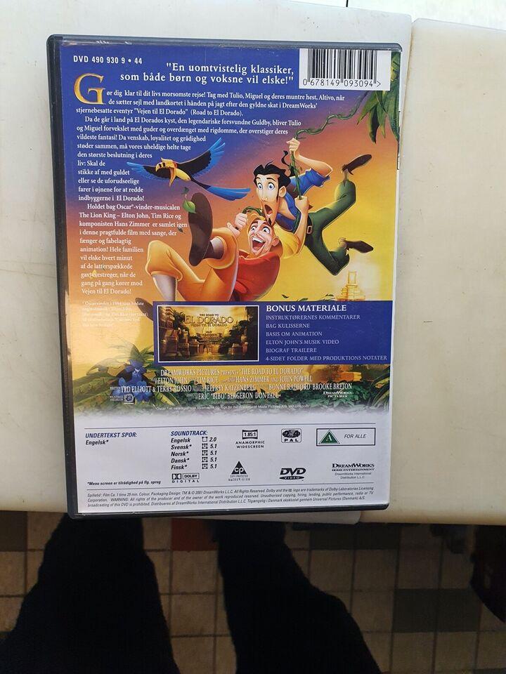 Vejen til El dorado, DVD, tegnefilm