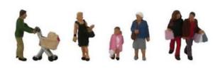 Figures N Gauge Scenecraft 379-306 Shopping Figures Pk6