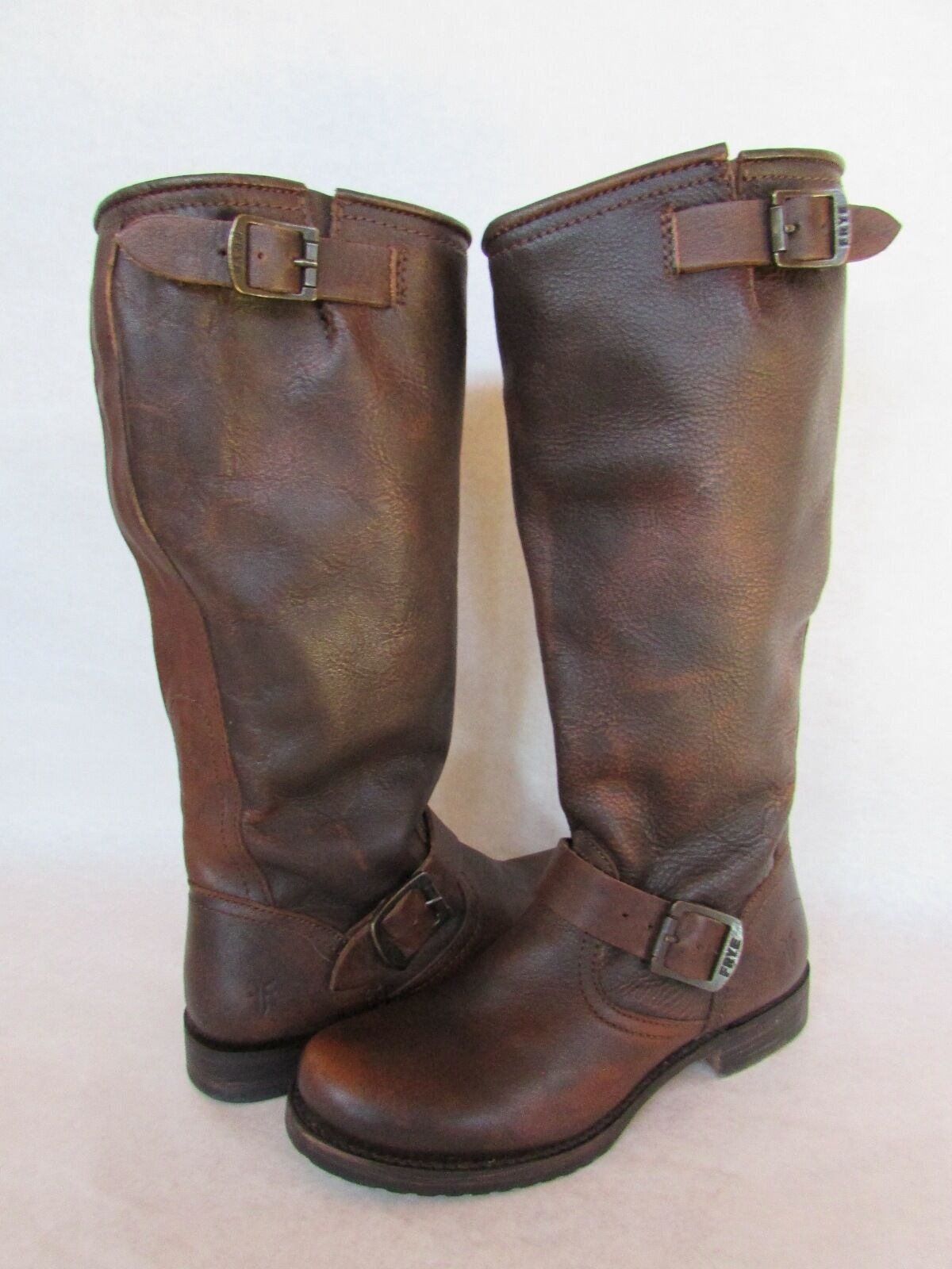 FRYE Veronica Slouch Slouch Slouch Stiefel Braun Riding Buckle 77606 Größe 6/ 6.5 EUC c4c813