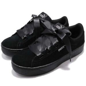 d369c862d1b086 Puma Vikky Platform Ribbon S Bow Black Bold Women Shoes Sneakers ...